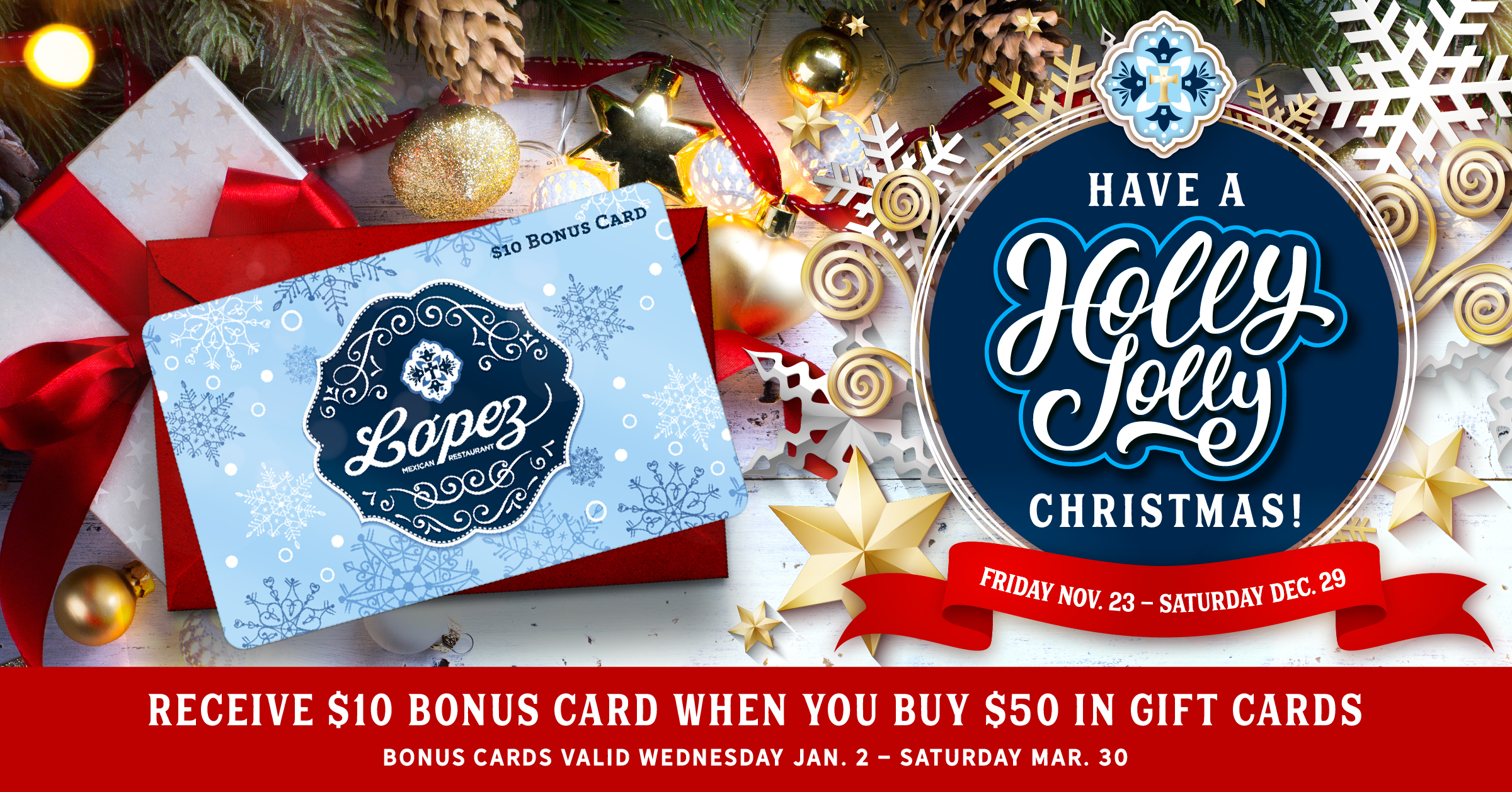 Gift Cards | Lopez Mexican Restaurant